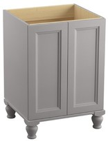 """Kohler Damask Plains 24"""" Vanity Base Only with Furniture Legs and 2 Doors Finish: Mohair Grey"""