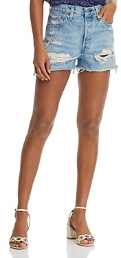 Levi's 501 Cutoff Denim Shorts in Fault Line