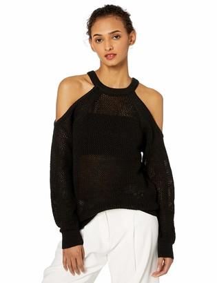 ASTR the Label Women's Janet Cold Shoulder Open Knit Sweater