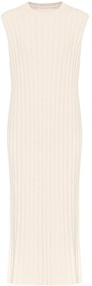Jil Sander Ribbed-knit cotton-blend midi dress