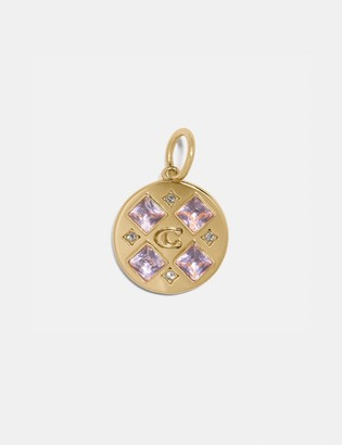 Coach Collectible Crystal Signature Disc Charm