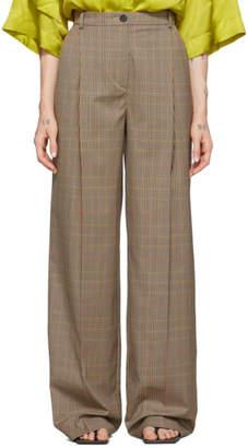 Nina Ricci Beige Houndstooth Trousers