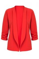Quiz Orange Ruched 3/4 Sleeve Jacket