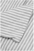 IN BED Linen Duvet Set - Grey & White Stripe