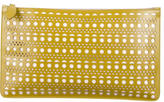 Alaia Laser Cut Leather Clutch