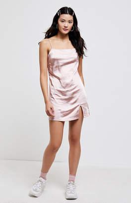 KENDALL + KYLIE Kendall & Kylie Satin Slit Mini Dress