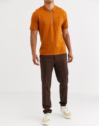 ASOS DESIGN skinny smart pants in wool mix double stripe in brown