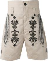 Ports 1961 embroidered metal bermudas - men - Cotton/Linen/Flax/Viscose - 46