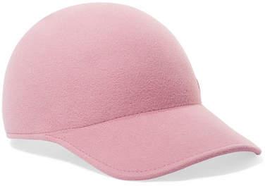 Maison Michel Tiger Rabbit-felt Cap - Baby pink