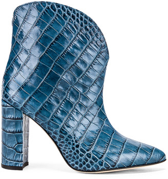 Paris Texas Moc Croco Ankle Boot in Jeans | FWRD