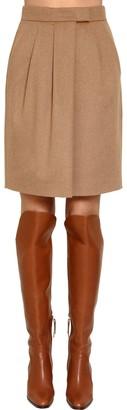Max Mara Wrapped Camel Skirt