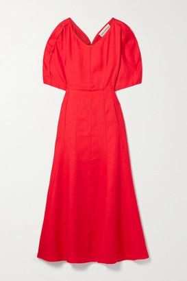 Mara Hoffman Sicily Hemp Midi Dress - Crimson