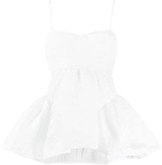 Cecilie Bahnsen Textured Babydoll Top