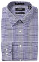 Nordstrom Smartcare(TM) Graphic Check Trim Fit Dress Shirt