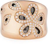 Roberto Coin Fantasia 18k Rose Gold Diamond Daisy Band Ring, Size 6.5