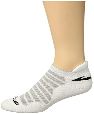 Brooks Glycerin Ultimate Cushion (White) Low Cut Socks Shoes