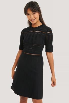 NA-KD Short Sleeve Knitted Midi Dress