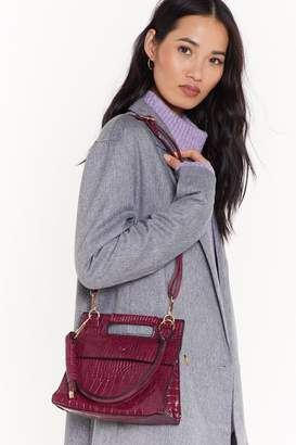 Nasty Gal Womens WANT A Day in the Life Croc Crossbody Bag - red - One Size