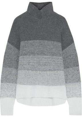 Iris & Ink Jenny Color-block Ribbed-knit Turtleneck Sweater