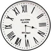 "Parker Stratton Home Decor 16"" Metal Enamel Wall Clock"