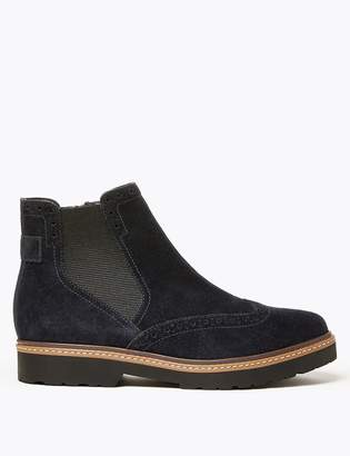 M&S CollectionMarks and Spencer Suede Brogue Chelsea Ankle Boots