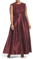 Chetta B Sequin Lace & Taffeta Gown (Plus Size)