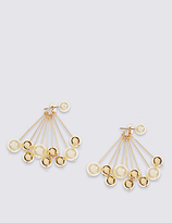 M&S Collection Pearl Cluster Drop Earrings