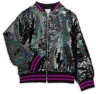 Urban Republic Girl's Sequin Bomber Jacket