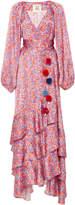 Figue Frederica Printed Ruffle Dress