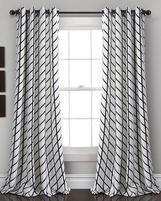 Triangle Home Fashion Feather Arrow Geo Room Darkening Window Curtain Panels