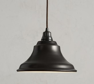 Pottery Barn Custom Curved Metal Bell Cord Pendant