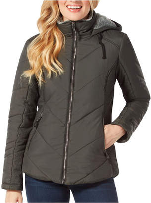 Free Country Quilted Jacket With Lined Hood