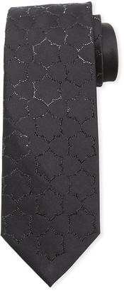 Stefano Ricci Men's Africa Crystal Tile Pattern Tie