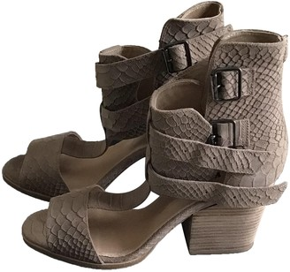 The Kooples Beige Leather Sandals