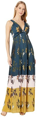 Ted Baker Kaylare Savanna Low V Maxi Dress (Dark Blue) Women's Clothing