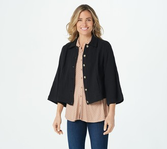 Isaac Mizrahi Live! Cotton Gauze Cropped Jacket