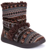 Muk Luks Women's Holly Knit Boot Slippers