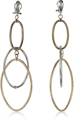 Rosato Rose Gold Plated Sterling Silver Soffio Long Earrings