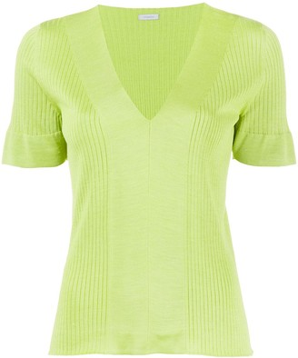 Malo knit silk V-neck top