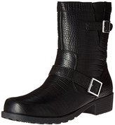 SoftWalk Women's Bellville Motorcycle Boot,Black,8.5 M US