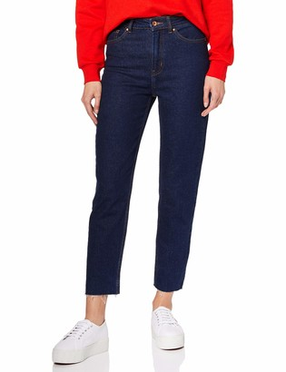 Only Women's ONLEMILY HW ST RAW ANK BB MAE0009 Rinse Jeans