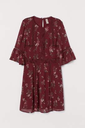H&M Chiffon Dress with Lace
