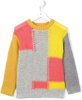 Stella McCartney 'Gibbon' patchwork jumper - kids - Polyamide/Wool - 6 yrs