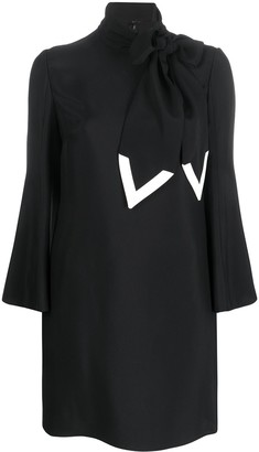 Valentino Scarf-Style Detail Short Dress