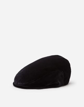 Dolce & Gabbana Velvet Cotton Flat Cap