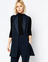 Asos Longline Tuxedo Sleeveless Jacket