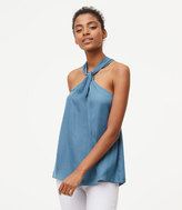 LOFT Petite Knotted Halter Top