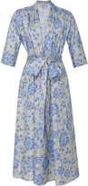 Luisa Beccaria Floral-Print Stretch-Cotton Dress