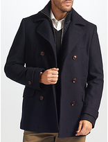 John Lewis 2-in-1 Pea Coat, Navy