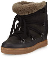 Isabel Marant Nowles Shearling Fur-Lined Ankle Boot